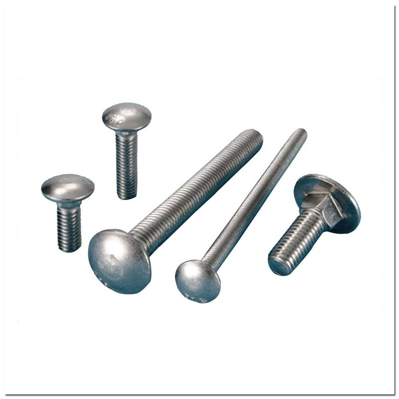 DIN603 Galvanised Steel Bolts , Exterior Carriage Hardened Carriage Bolts Chrome