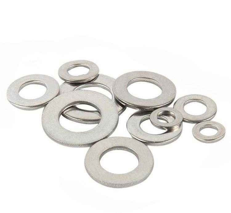 DIN125 Metric Galvanized Fender Washers , Colored Curved Washers Iron Material